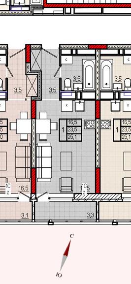 Микрорайон «Центральный», корпус 18, секция 1, квартира 25,1 м2