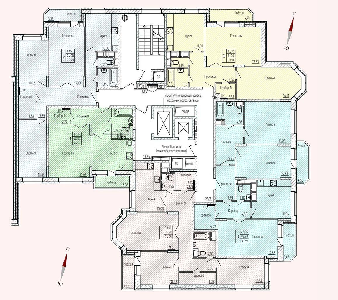 Микрорайон «Хлебниково», корпус 8, секция 6, этаж/этажи 2-13