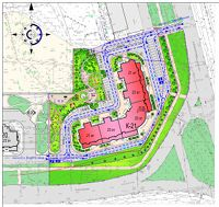 Город Долгопрудный, ул. Дирижабельная, д. 1, план благоустройства придомовой территории